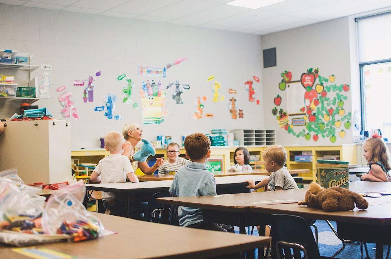 K5 students enjoy learning.